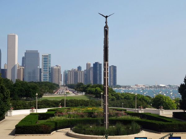 Chicago Museum campus vue sur Navy Pier 2