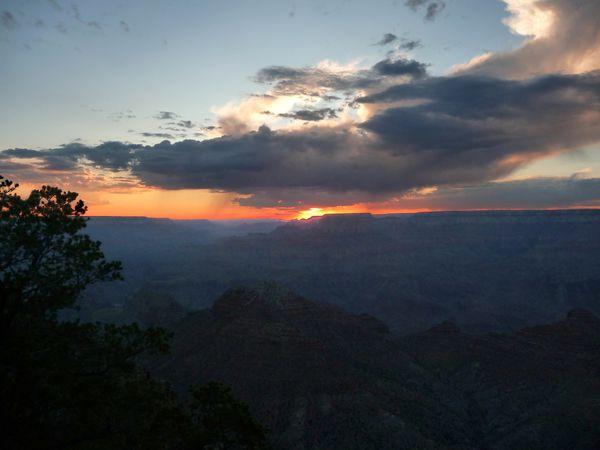 Grand Canyon Desert point Sunset