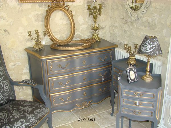 m65 commode louis xv ylg home style. Black Bedroom Furniture Sets. Home Design Ideas