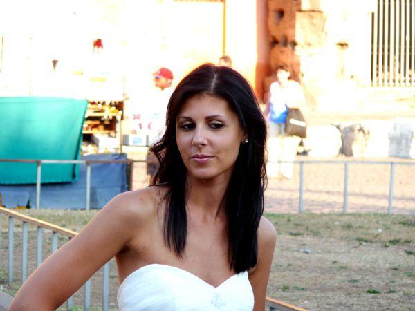 mariée brune à Rome