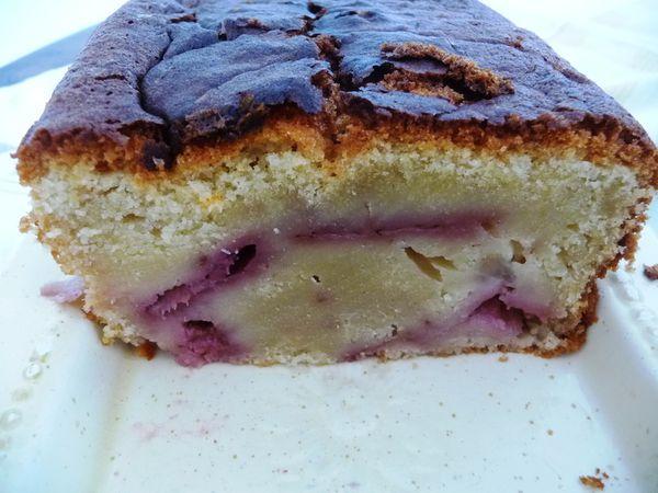 cake à la fraise et aux poires 2