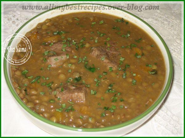 soupe de lentilles a l'algerienne alias la3adesse. - all my best