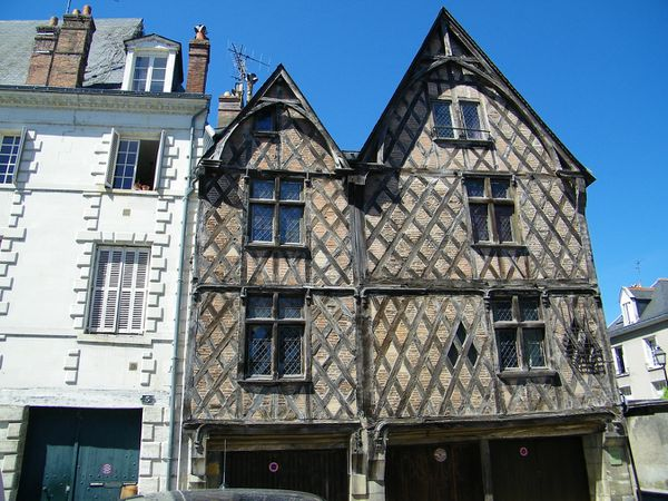 1424 Half-timbered houses, Tours