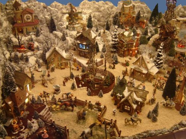 Village de no l 2011 voyage dans le pass les villages miniatures de no l de lalie - Village de noel miniature ...