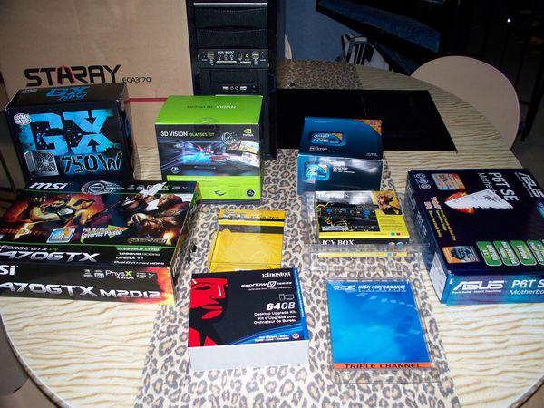 Composants pour PC gamer extreme 3d vision a assemblé