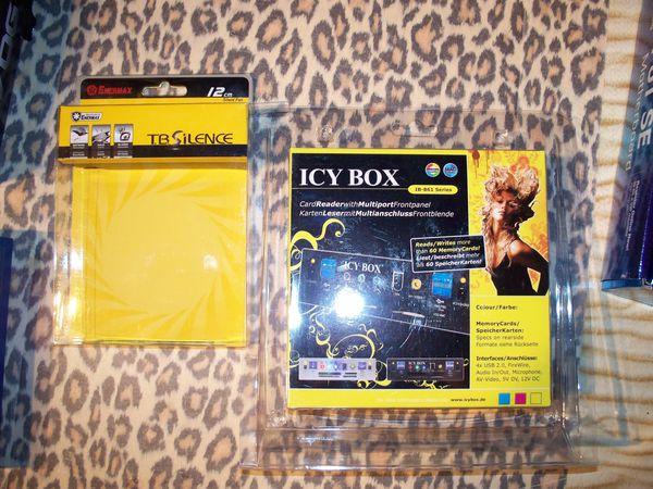 ventilateur de boitier enermax et lecteur de carte icy box