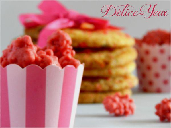 Cookies pralines roses chocolat blanc 01