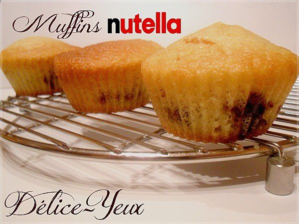 Muffins coeur nutella1