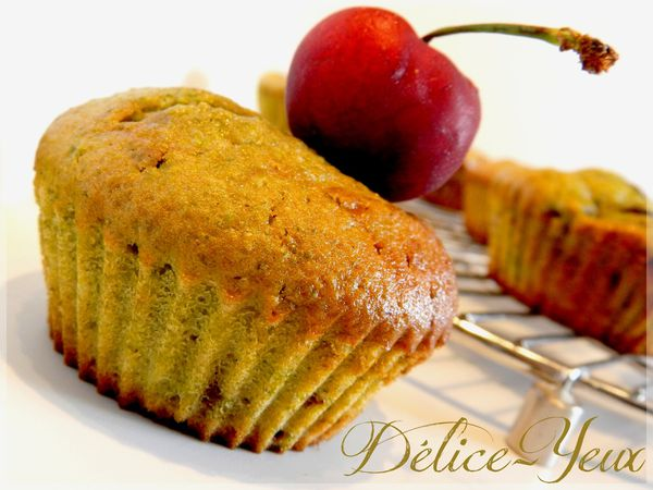 Muffins pistache cerise1