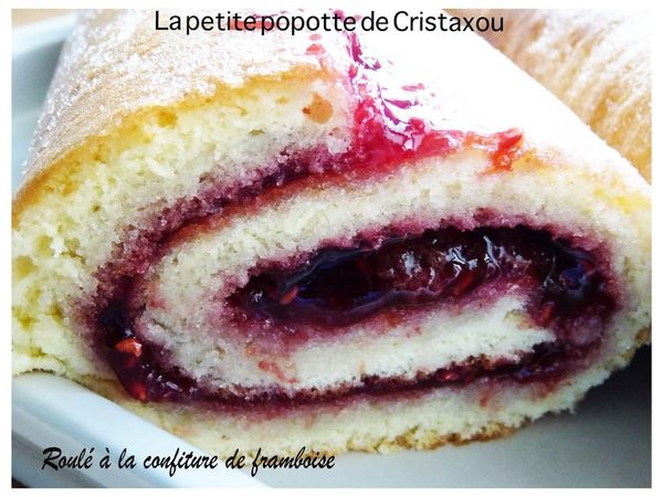 roule confiture framboise