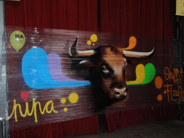 Buanos-Aires La Rural - Vaca tag sur plastique mou