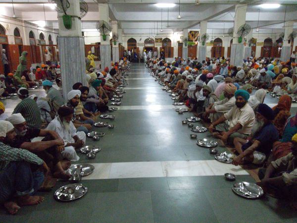 Amritsar, cantine temple d'or