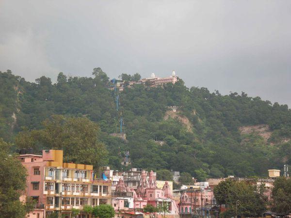Haridwar, temple sur la colline