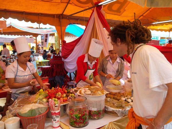 Vientiane marche culinaire