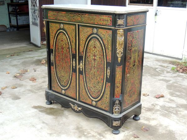 Restauration meuble boulle napoleon 3 brocante thamalet for Restauration meuble antique