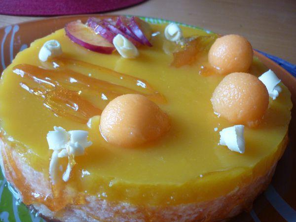 entremet melon et miroir mangue (4)