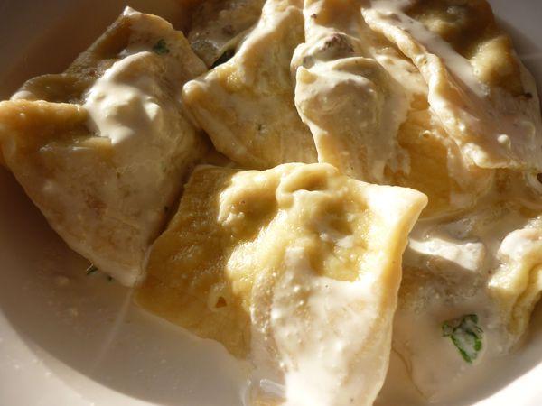 raviolis maison au boeuf sauce crème boursin (4)