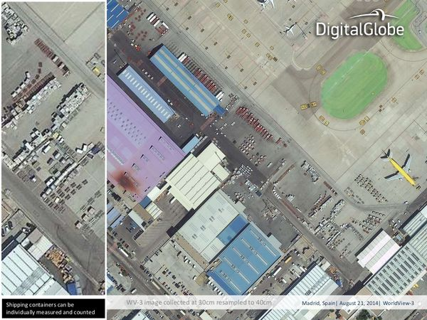 Worldview-3 - First images - Madrid - Spain - Airport - DigitalGlobe