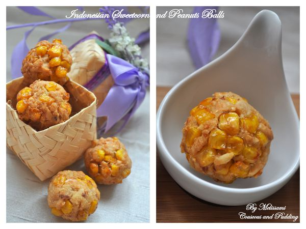 Indonesian sweetcorn and peanuts balls