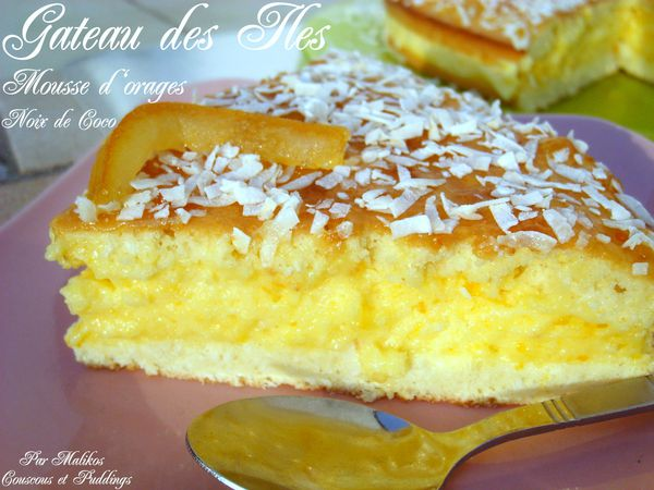 gateau des iles noix de coco mousse d'orange