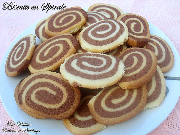 biscuits spirale bicolore: choco-vanille - couscous et puddings