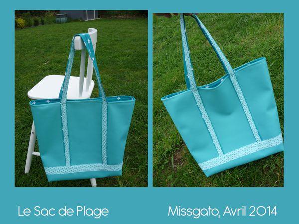 le sac de plage turquoise missgato et cie. Black Bedroom Furniture Sets. Home Design Ideas