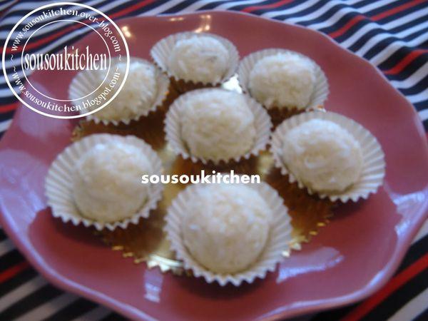 Boule de coco(Raphaello) كويرات الكوكو