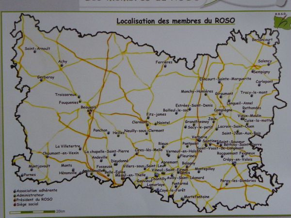Carte implantation ROSO