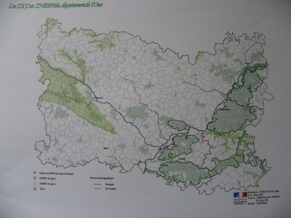 ZNIEFF et ZICO de l'Oise