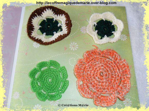crochet 3 fleurs