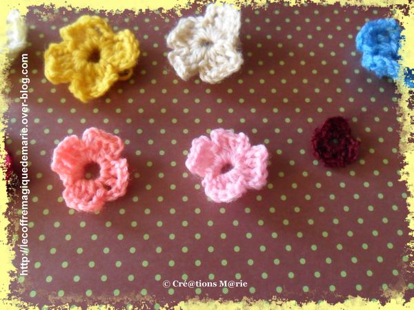 crochet 6 fleurs