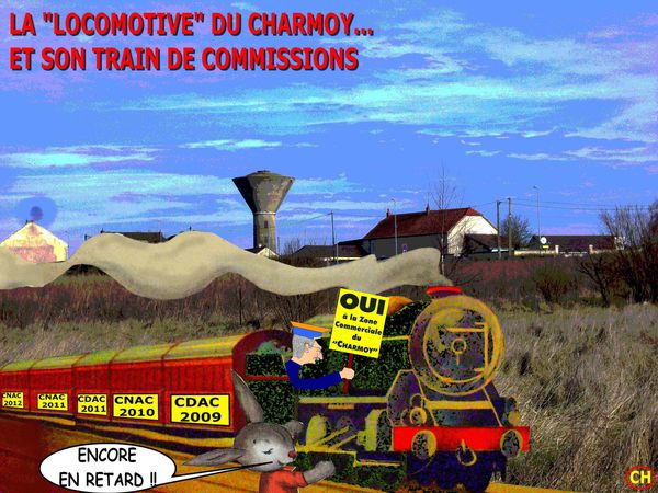La locomotive du Charmoy et son train de commissions