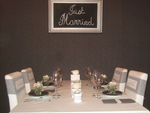 TABLE JUST MARRIED ( noce de perle ) 006