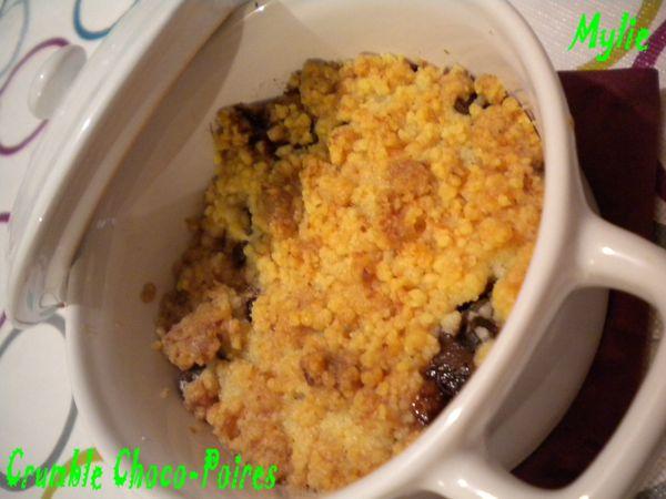crumble choco poire 1