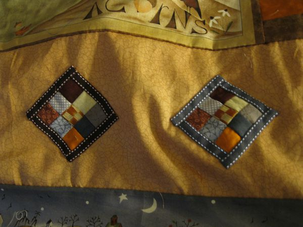 Nine patch appliqués