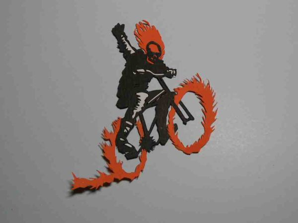 ghost rider papiers decoupés blog