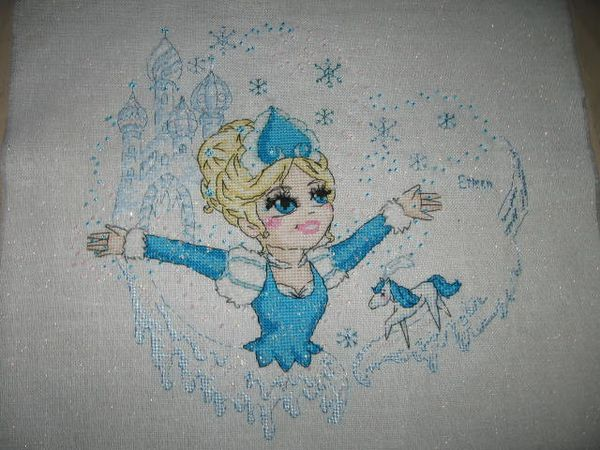 reine des neiges broderie finie (1)