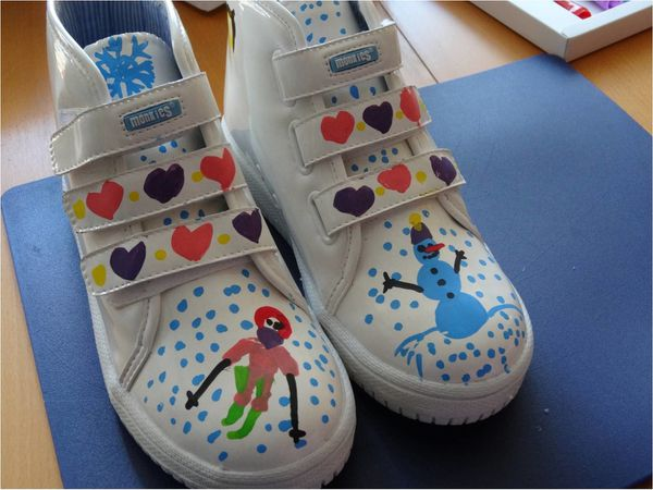 monkies decorees chaussures enfants colorier