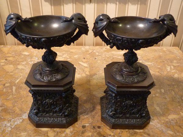 coupes bronze renaissance antiquaire