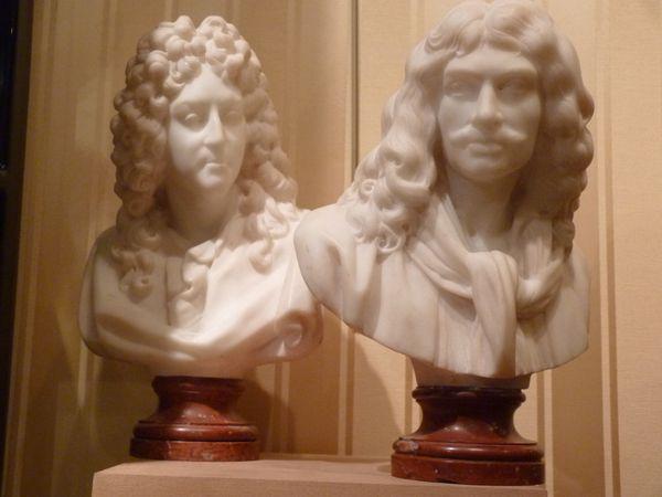 antiquaire bustes moliere racine marbre