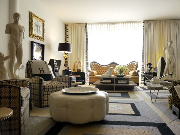 Un appartement n o classique revisit en loft new york for Deco salon ancien