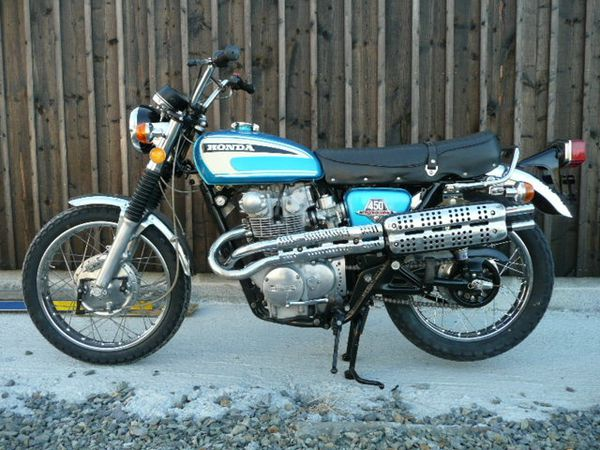 restauration honda cl 450 de 1974