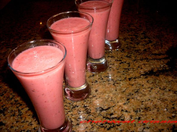 smoothie fraises-bananes