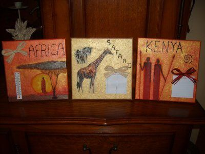AFRICA 3 TABLEAUX