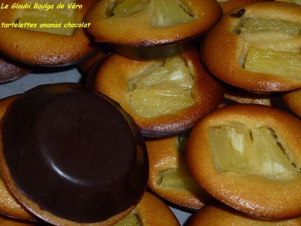 tartelettes ananas chocolat