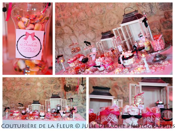 Candy Bar Boudoir Rose et Noir (7)