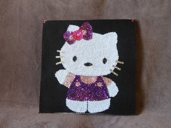 Tableau de sequins hello kitty le blog de blueboreale for Tableau en sequin