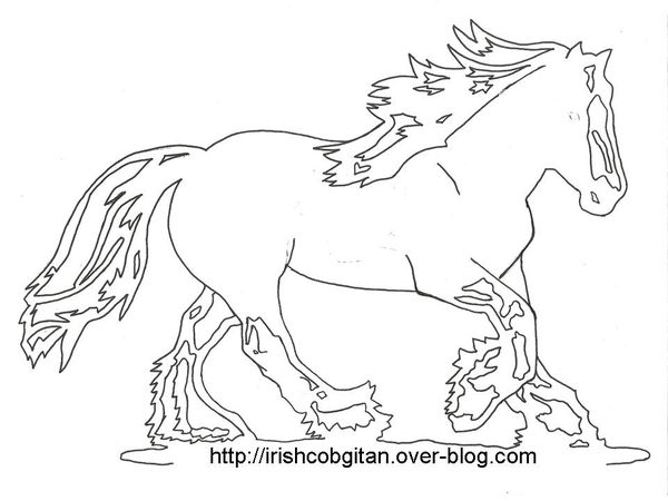 Coloriez votre irish cob gitan talon irish cob pleins - Spirit coloriage ...