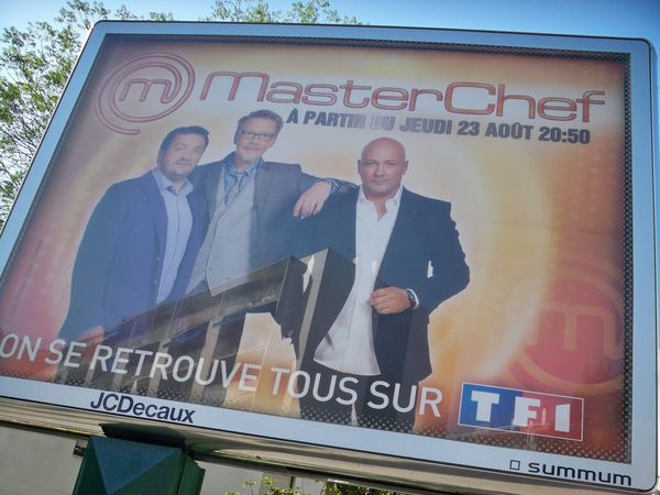 Affiche 4x3 à Vincennes Campagne Master Chef 2012 - Photo : Christophe Devé
