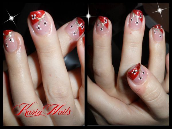 deco ongles rouge et or